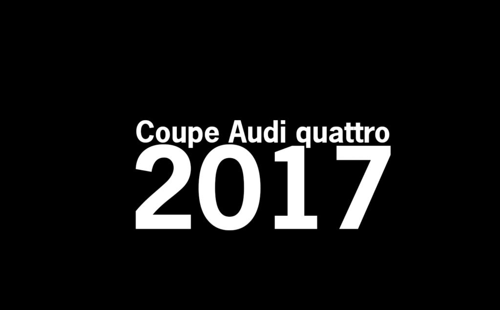 Coupe Audi Quattro 2017